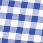 Mens Casual Shirts: Check & Plaid: Blue/White Saddlebred Long Sleeve Gingham Plaid Oxford Shirt