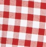 Mens Casual Shirts: Check & Plaid: Red/White Saddlebred Long Sleeve Gingham Plaid Oxford Shirt