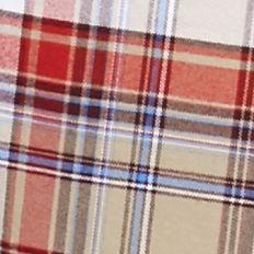 Men: Saddlebred Trends: White/Khaki/Red Saddlebred Long Sleeve Medium Plaid Oxford Shirt
