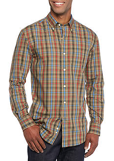 Saddlebred Long Sleeve Small Gingham Easy Care Shirt