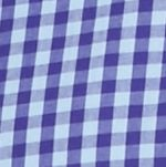 Mens Casual Shirts: Check & Plaid: Purple/Blue Saddlebred Long Sleeve Small Gingham Easy Care Shirt