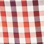 Mens Casual Shirts: Check & Plaid: Red/Orange Saddlebred Long Sleeve Small Gingham Easy Care Shirt
