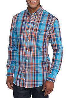 Saddlebred Long Sleeve Plain Weave Plaid Easy Care Shirt