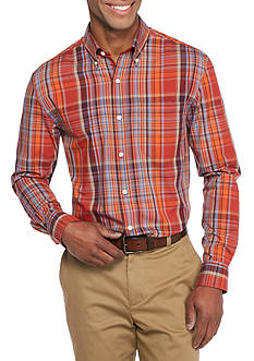 Saddlebred Long Sleeve Plain Weave Plaid Easy Care Shirt