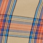 Men: Saddlebred Trends: Khaki/Green/Red Saddlebred 1888 Long Sleeve Tailored Tartan Poplin Shirt