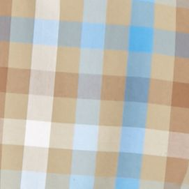 Men: Saddlebred Trends: Khaki Multi Saddlebred 1888 Long Sleeve Tailored Gingham Poplin Shirt