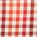 Men: Saddlebred Trends: Ivory/Red Saddlebred 1888 Long Sleeve Mini Gingham Poplin Shirt
