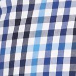 Men: Saddlebred Trends: Blue/White Saddlebred 1888 Long Sleeve Mini Gingham Poplin Shirt