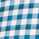 Mens Casual Shirts: Check & Plaid: Blue/White Saddlebred 1888 Long Sleeve Tailored Gingham Oxford Shirt