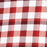 Mens Casual Shirts: Check & Plaid: Red/White Saddlebred 1888 Long Sleeve Tailored Gingham Oxford Shirt