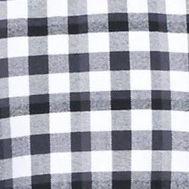 Men: Saddlebred Trends: Black/White Saddlebred 1888 Long Sleeve Tailored Gingham Oxford Shirt