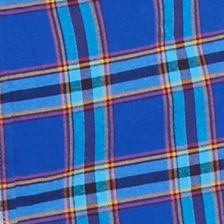 Men: Saddlebred Trends: Blue Saddlebred 1888 Long Sleeve Tailored Plaid Oxford Shirt