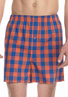 Saddlebred Buffalo Check Woven Boxers