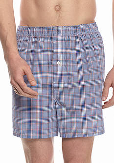 Saddlebred Glen Plaid Woven Boxers