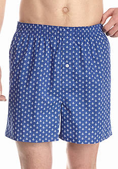 Saddlebred Anchor Print Woven Boxers
