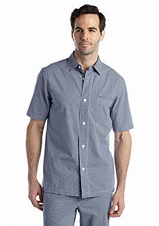 Saddlebred Gingham Woven Camp Lounge Shirt