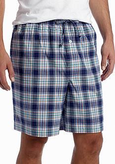 Saddlebred Plaid Woven Lounge Shorts