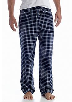 Saddlebred Grid Print Woven Lounge Pants
