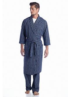 Saddlebred Grid Print Woven Robe