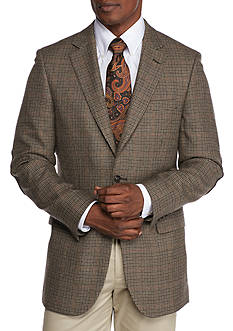 Saddlebred Brown Houndstooth Lambswool Sport Coat