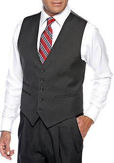 Saddlebred Classic Comfort Fit Charcoal Suit Separate Vest
