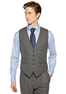 Saddlebred Classic Comfort Fit Herringbone Suit Separate Vest