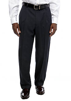Saddlebred Classic Comfort Fit Plaid Suit Separate Pants