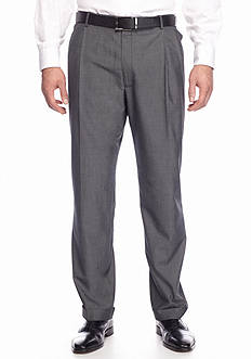 Saddlebred Big & Tall Classic Comfort Fit Black & White Tic Suit Separate Pants