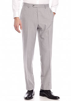 Saddlebred Classic-Fit Gray Plaid Suit Separate Pants