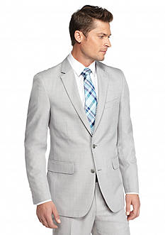 Saddlebred Classic-Fit Gray Plaid Suit Separate Coat