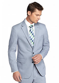 Saddlebred Classic-Fit Blue Tic Suit Separate Coat