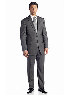 MICHAEL Michael Kors Black Tic Windowpane Suit