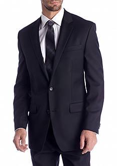 MICHAEL Michael Kors Classic Fit Black Solid Suit Separate Coat