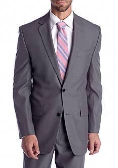 MICHAEL Michael Kors Classic Fit Gray Pin Stripe Suit Separate Coat
