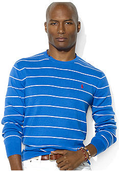 Stripe Pima Cotton Crewneck Sweater