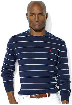 Polo Ralph Lauren Stripe Pima Cotton Crewneck Sweater