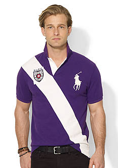 Polo Ralph Lauren Custom-Fit Banner-Stripe Polo Shirt