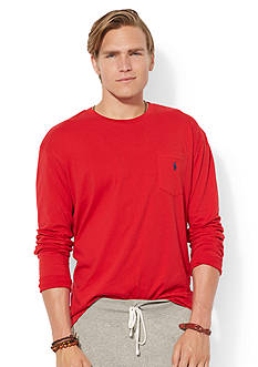 Polo Ralph Lauren Classic-Fit Long-Sleeved Jersey Pocket Crew Neck