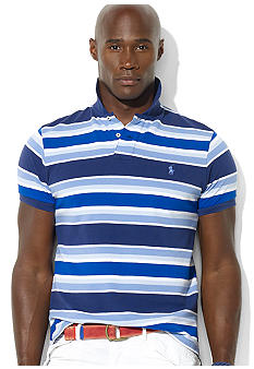 Polo Ralph Lauren Big & Tall Classic-Fit Multi-Stripe Cotton Mesh Polo