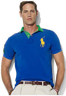 Polo Ralph Lauren Big & Tall Classic-Fit Short-Sleeved Contrast-Collar Mesh Polo