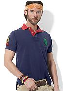 Polo Ralph Lauren Custom-Fit Contrast-Collar Mesh Polo