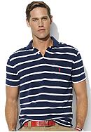 Polo Ralph Lauren Big & Tall Classic-Fit Short-Sleeved Striped Mesh Pocket Polo