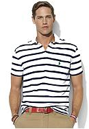 Polo Ralph Lauren Classic-Fit Striped Mesh Pocket Polo