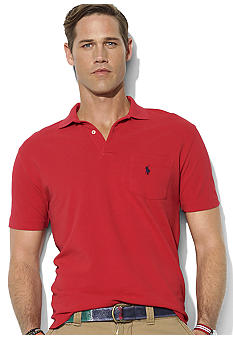 Polo Ralph Lauren Big & Tall Classic-Fit Short-Sleeved Solid Mesh Pocket Polo