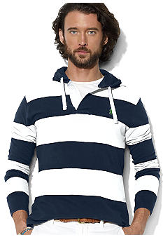 Polo Ralph Lauren Striped Mesh Pullover Hoodie