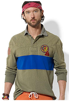 Polo Ralph Lauren Custom-Fit Contrast-Stripe Rugby