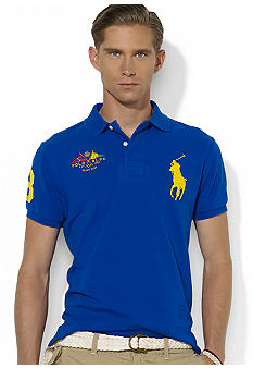 Polo Ralph Lauren Crossed-Flags Mesh Polo
