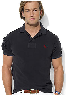 Polo Ralph Lauren Custom-Fit Sleeve-Pocket Mesh Polo