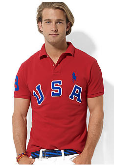 Polo Ralph Lauren Custom-Fit Short-Sleeved USA Mesh Polo