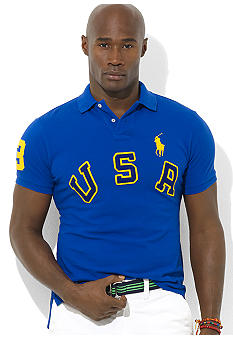 Polo Ralph Lauren Big & Tall Classic-Fit Short-Sleeved USA Mesh Polo